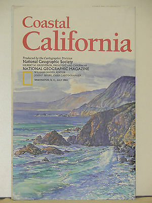 1993 National Geographic Map of Coastal California (d)
