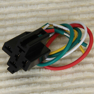 5-pin Pre-wired Relay Socket Base for Using with DC 12V Five Terminal Relays