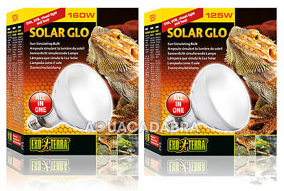 Exo Terra Solar Glo Heat Bulb Daylight Reptile Lighting Uvb Uva Lamp Light
