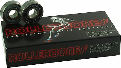New Bones Rollerbones Bearings 8mm  Pack of 16 Roller Skate Bearing