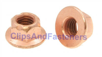 Exhaust Downpipe from Michigan 4x M10-1.25 Copper FLANGE Nuts 14mm hex size !