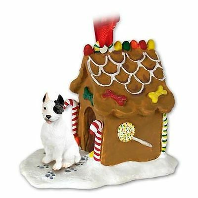 PIT BUILL TERRIER Dog Gingerbread Ginger Bread House Christmas Holiday ORNAMENT