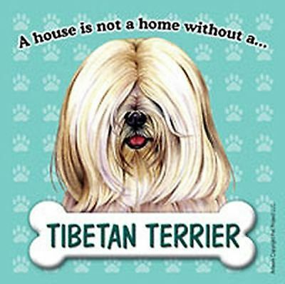Tibetan Terrier Dog Magnet Sign House Is Not A Home