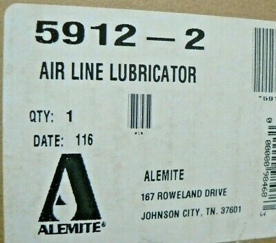 Alemite 5912-2 Compressed Air Line Lubricator 3/4 NEW All Metal 250 PSI HD