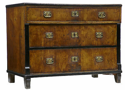 19Th Century Antique Biedermeier Birch Commode Chest Of Drawers