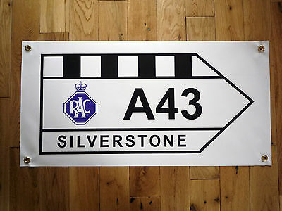 Silverstone A43 Road Sign Grand Prix Weatherproof Outdoor Garage Use Art Banner