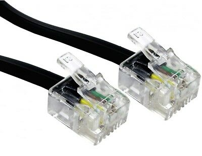 30m RJ11 ASDL Cable Black HIGH SPEED Broadband Modem 30 Metre Male Lead LONG