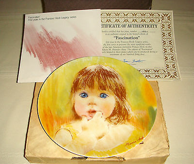 FRANCES HOOK Legacy Bright Blue Eyed Girl & Look Of Amazement FASCINATION Plate