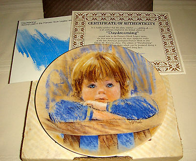 FRANCES HOOK Legacy Elbows Resting & Calm Expression Cute Boy DAYDREAMING Plate