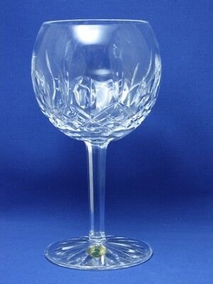 """Lismore Wine Balloon Crystal Glass Waterford, Mint Condition! 7 1/4"""""""
