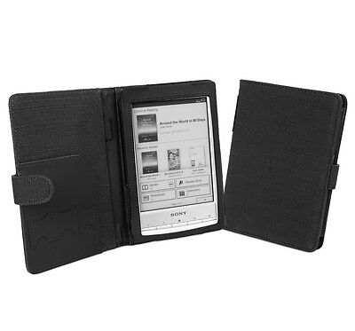 Cover-Up Sony Reader PRS-T1 / PRS-T2 Natural Hemp Book Style Case - Carbon Black