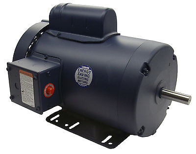 2 HP 3450 RPM 145T 115/208-230V Leeson Electric Motor TEFC ~NEW~*FREE SHIPPING*