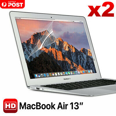 "2x Clear LCD Screen Protector Guard Film Cover For Macbook Air 13.3"" A1466 A1369"