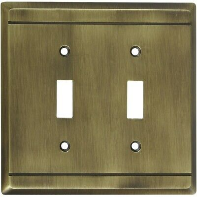 Franklin Double Switch Wall Plate Antique Brass