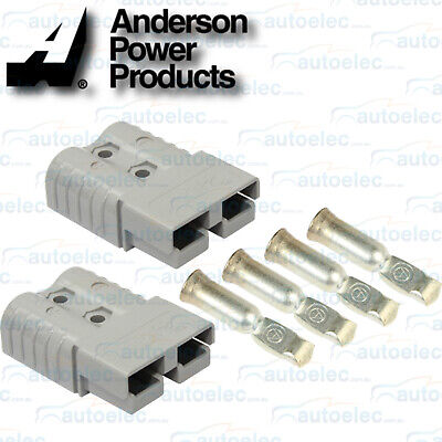 Pair Of 120 Amp Amps 120A  Anderson Plugs 4X4 4Wd Trucks 2 Plug Grey Gray New