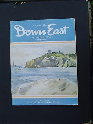 DOWN EAST Maine mag AUG 1976 OYSTER FARMING  Old Fort at PEMAQUID  Celia Thaxter