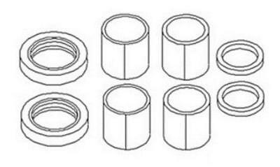 SBBSKIT06 Spindle Bushing Bearing and Ford New Holland  Seal Kit 3230 3430 3930