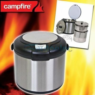 New Thermal Cooker Cooking Stainless Pot Camp Camping Rice 7L 7 Liter Magic Deep