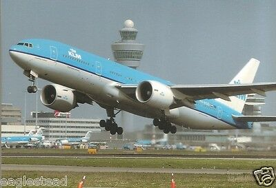 Airline Postcard - KLM - B777 206ER - PH-BQD (P2698)