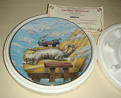 GARY PATTERSON Comical Cats Hilarious Kitten Tanning CAT DAY AFTERNOON Plate