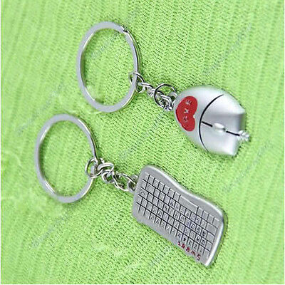 1 Pair Lover Gift Beautiful Keyboard And Mouse Pendant Key Chain