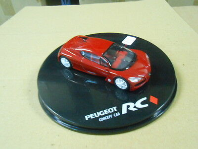PEUGEOT RC CONCEPT CAR, RED, COLLECTIONS ATLAS, 1/43