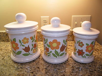 McCoy Canister Set Vintage 1970s Looks New - Never Used