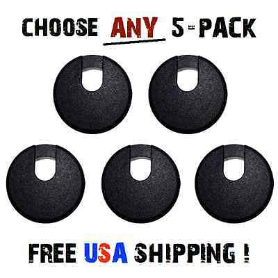 5 LOT GROMMETS For Furniture Cabinets Counters Hardware Hole Covers WITH Caps !!
