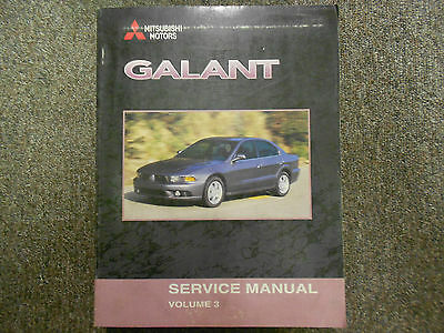1999 2000 mitsubishi galant service manual 3 volume set