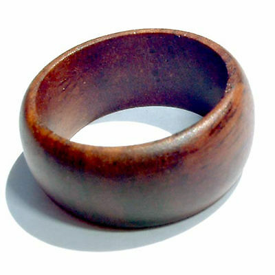 Ring RINGS rosewood unique style organic wood wooden ornate band HANDMADE AR021