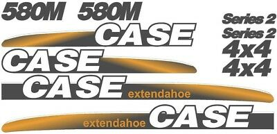 New Case 580M Backhoe Loader Whole Decal Set (Series 2, 4 x 4)