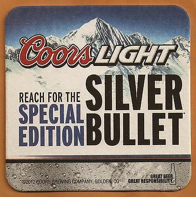 16 Coors Light Reach For The Special Edition Silver Bullet  Beer Coasters