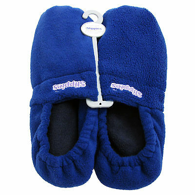 Slippers Heatable Microwavable French Lavender Scented Intelex Unisex Soft Blue