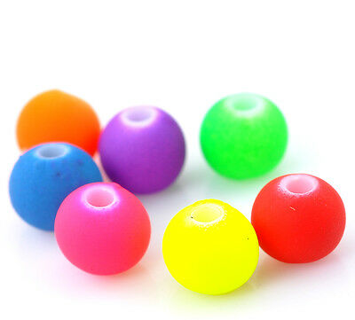 "500PCs Mixed Acrylic Spacer Ball Beads 6mm(2/8"") Dia."