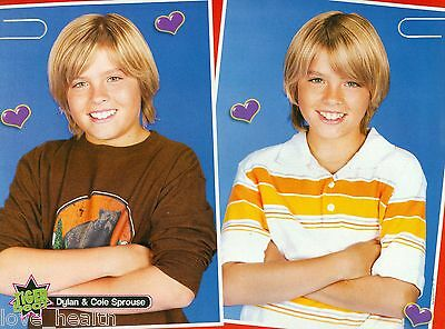 """DYLAN & COLE SPROUSE - THE SUITE LIFE - 11"""" x 8"""" MAGAZINE PINUP - POSTER"""