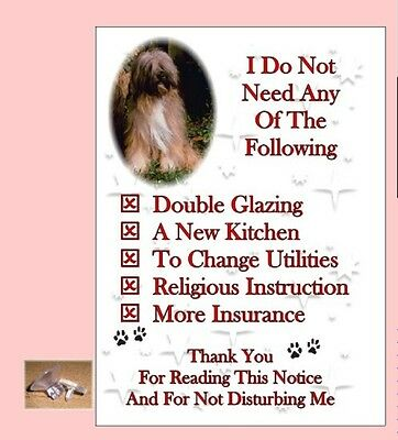 Tibetan Terrier House Sign + Suction Cup