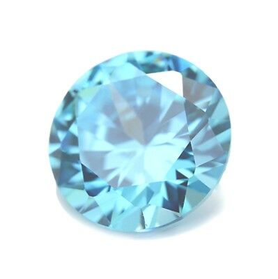 8mm ROUND NATURAL SKY BLUE TOPAZ GEM GEMSTONE