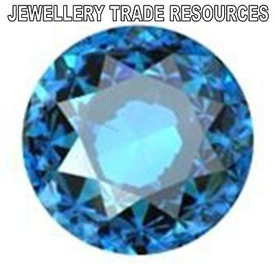 8.5mm ROUND NATURAL SWISS BLUE TOPAZ GEM GEMSTONE