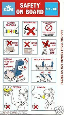 Safety Card - KLM - B737 400 - 1998 (SC310)