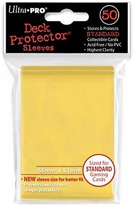 50 Bustine Protettive ULTRA PRO Magic YELLOW Giallo Standard Sleeves Buste