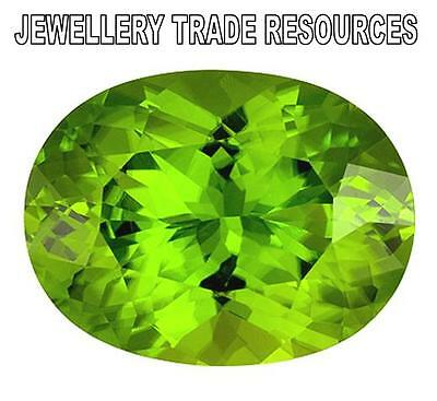 Natural Green Peridot 14mm x 10mm Oval Cut Gem Gemstone