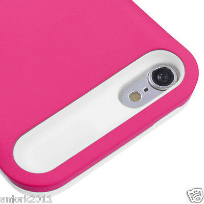 Apple iPod Touch 5 TD ARMOR HYBRID CASE SKIN COVER ACCESSORY HOT PINK