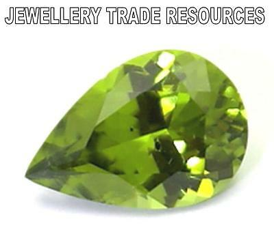 12mm x 6mm Natural Green Peridot  Pear Cut Gem Gemstone
