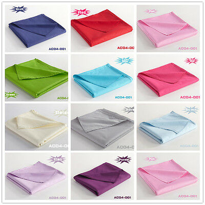 Solid Color Fitted Sheet Flat Sheet Double/King/Queen Bed Pillowcases 100%Cotton