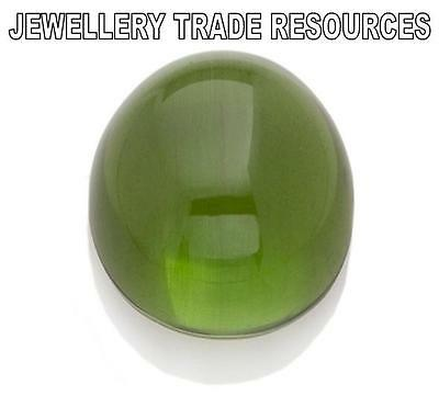 7mm NATURAL GREEN ROUND PERIDOT CABOCHON CUT GEM GEMSTONE