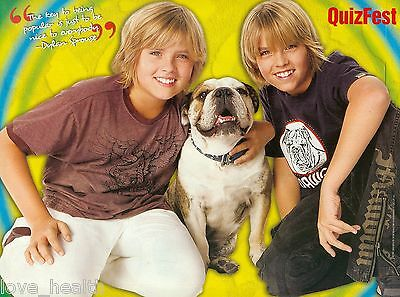 """DYLAN & COLE SPROUSE - THE SUITE LIFE - TEEN BOY ACTOR - 11"""" x 8"""" PINUP - POSTER"""