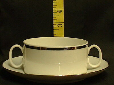 Thomas China Wide Platinum 798 Soup Cup & Saucer New