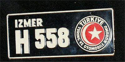 MINIATURE PLATE LICENSE  VINTAGE TURKEY COUNTRY  STATE CEREAL PREMIUM