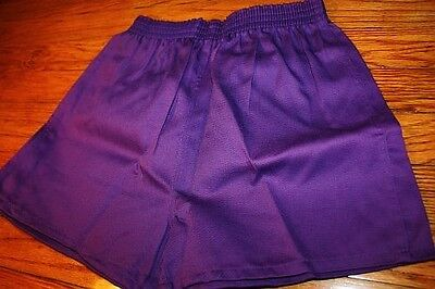 S ~ NOS vtg 80s SHORT SHORTS purple * GYM jogging TRACK p.e.