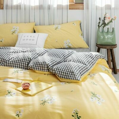 Doona Duvet Covers Fitted Sheets Single Double Queen King Size Bed 100%Cotton